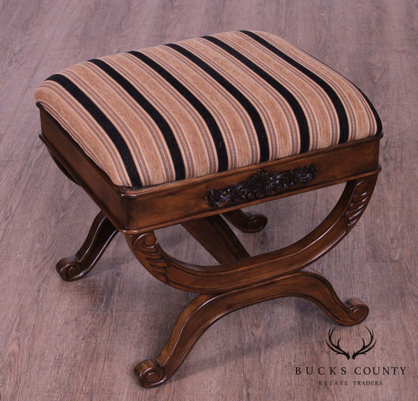 Regency Style X Base Stool or Bench