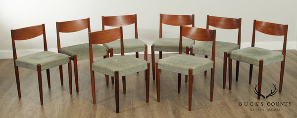Poul Volther for Frem Rojle Danish Modern Set 8 Teak Dining Chairs
