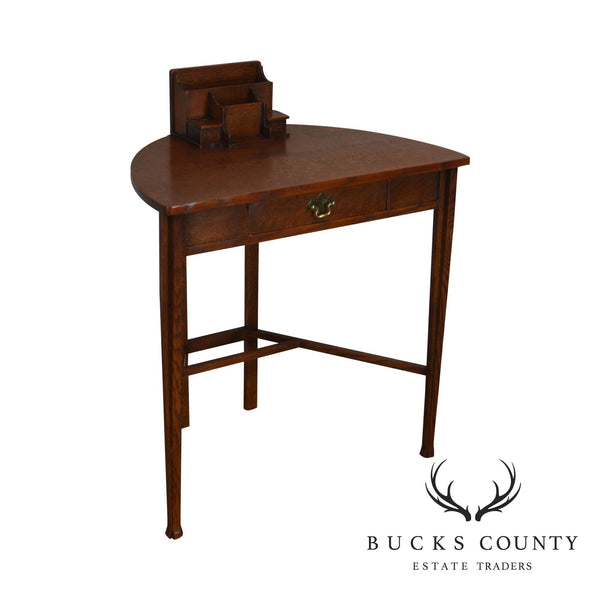 Mission Oak Half Round Desk