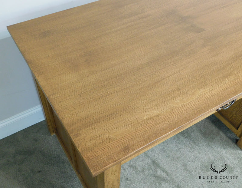 Mission Style Custom Quality Oak Desk