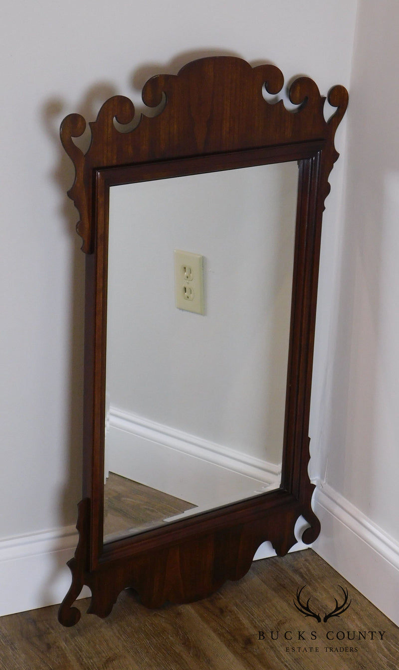 Hitchcock Cherry Chippendale Style Beveled Wall Mirror