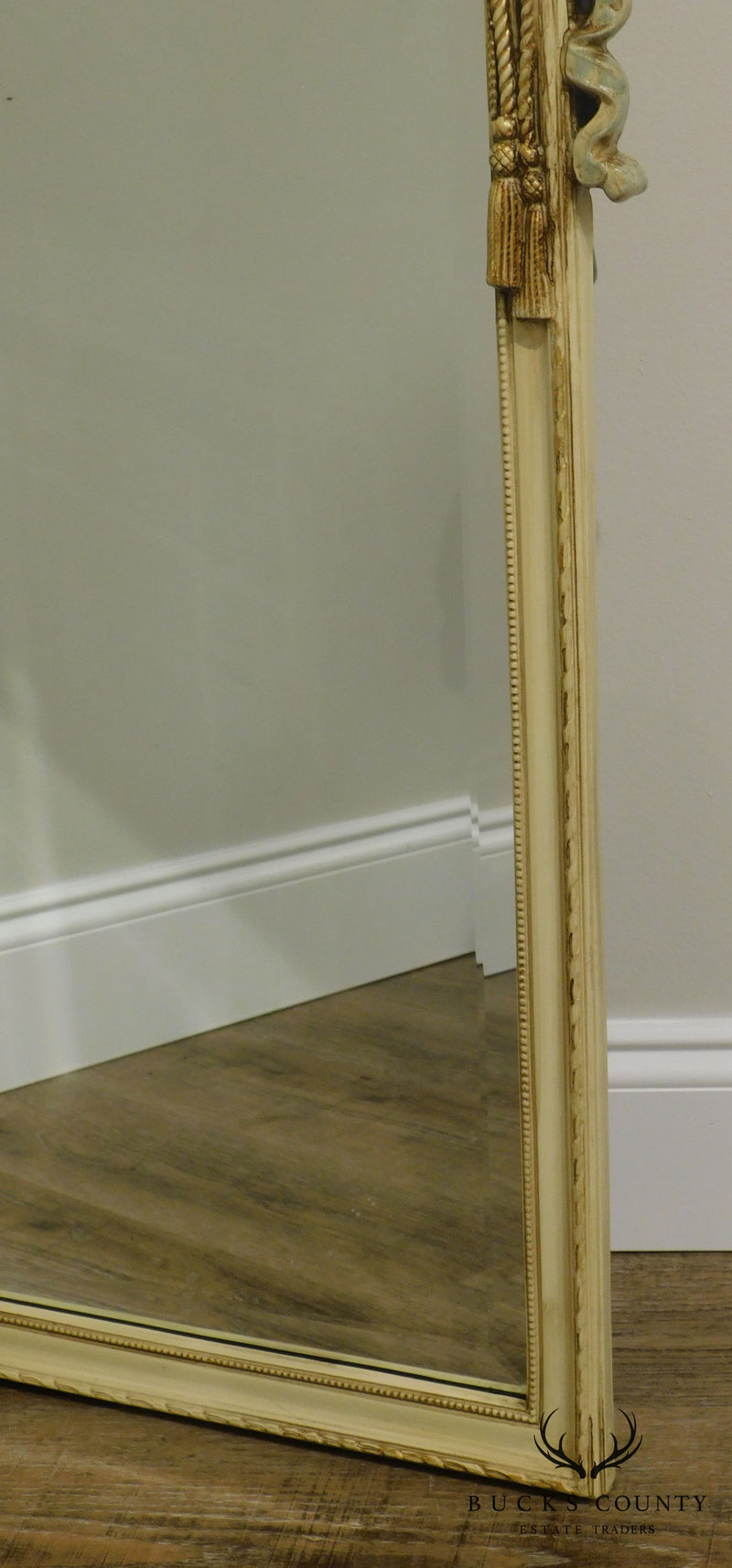 Decorative Arts, Inc. French Louis XV Painted Frame Beveled Wall Mirror