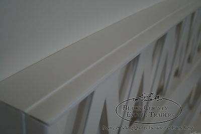 Mid Century Modern White Painted Queen Size Headboard