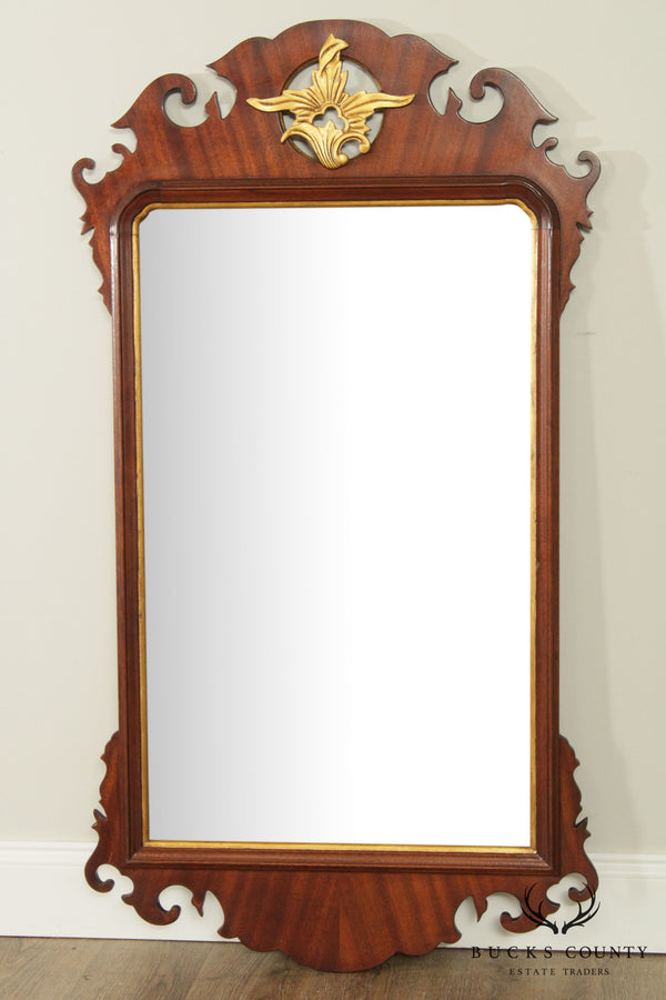 Chippendale Style Quality Mahogany Frame Wall Mirror