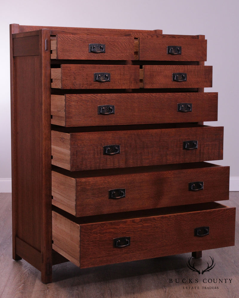 Stickley Mission Collection Oak 8 Drawer High Chest