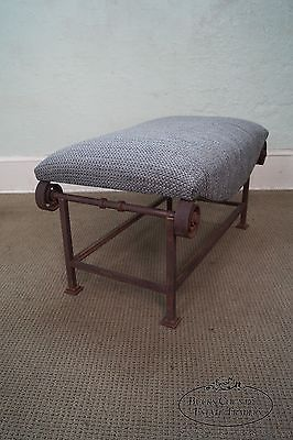 Unusual Rustic Scrolled Iron Frame Window Bench