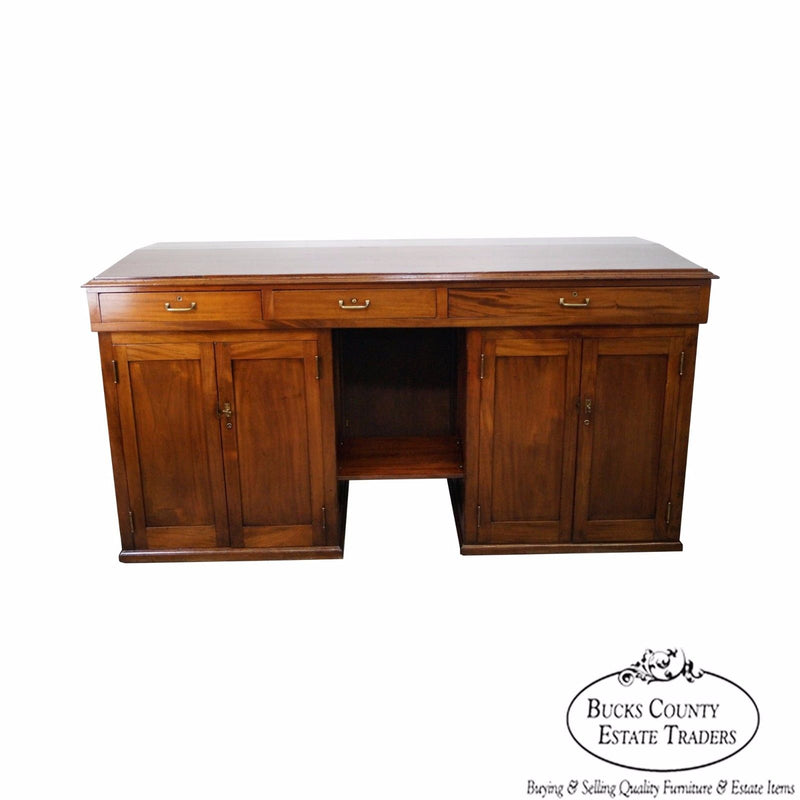 Large Antique Mahogany Architects Desk