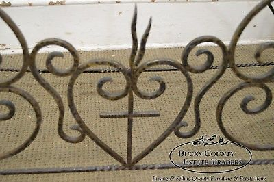 Vintage Hand Forged Iron Casket Carrier Base on Castors