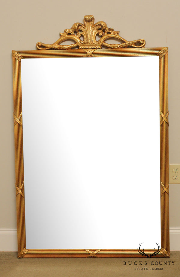 Friedman Brothers 'The Tyrone Castle' French Gilt Beveled Wall Mirror