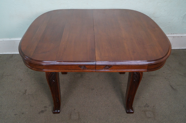Antique French Art Nouveau Walnut Extension Dining Table Edouard Diot