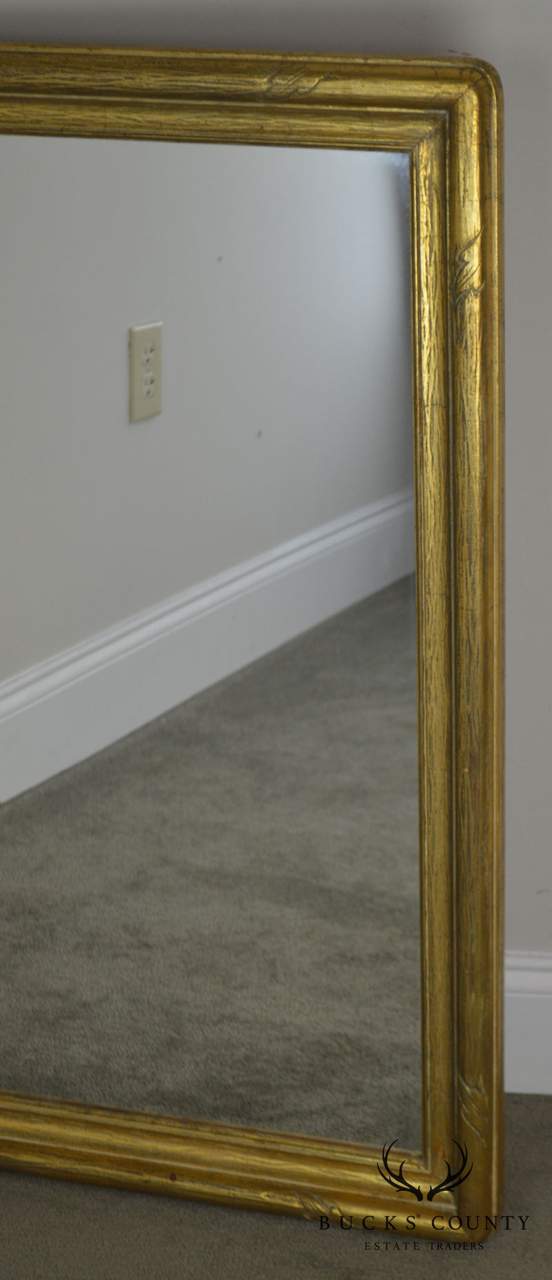 Vintage Gold Gilt Wood Frame Wall Mirror