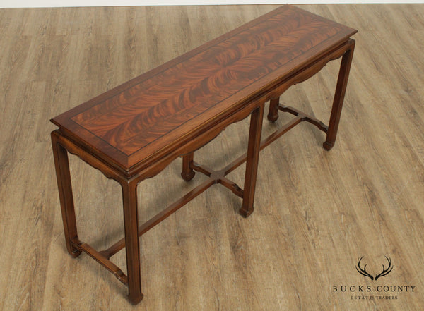 Kittinger Vintage Asian Inspired Mahogany Console Table