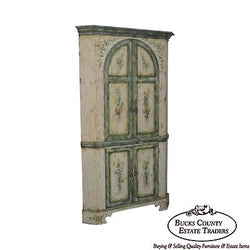 Habersham Plantation Hand Painted Corner Cabinet Cupboard