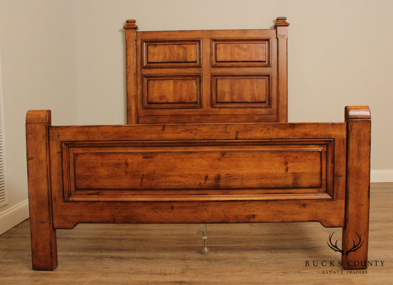 Century Furniture French Country Style Queen High Back Bed