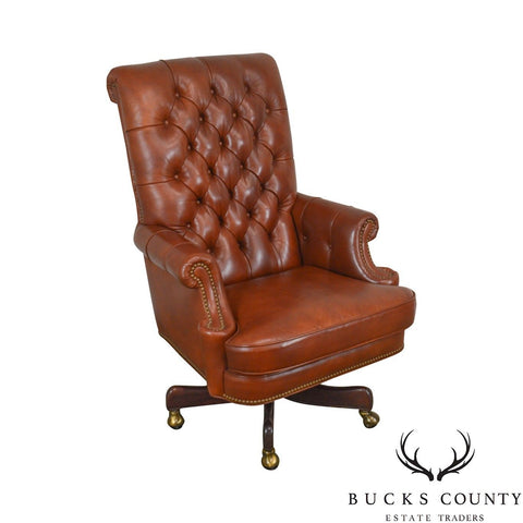 Hancock & Moore Tufted Brown Leather Executive Desk Chair