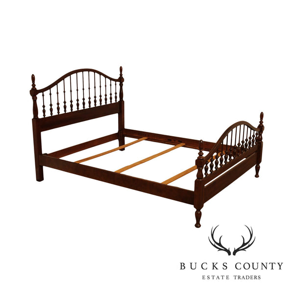 Jamestown Sterling Solid Cherry Queen Size Spindle Back Bed