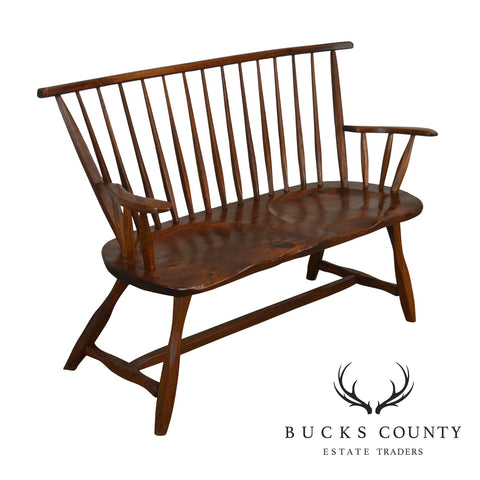 Hunt Country Furniture Pine & Oak Windsor Bench