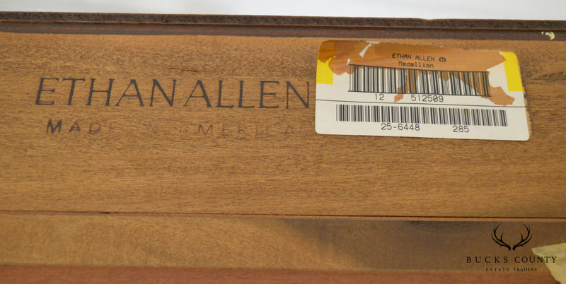 Ethan Allen Medallion Collection Large Cherry Breakfront (B)