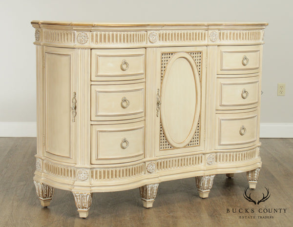 Pulaski French Louis XVI Cream Painted Joliette Vanity Dresser