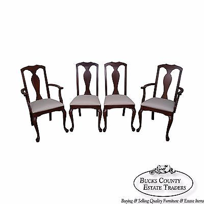 Crawford Set of 4 Cherry Traditional Queen Anne Style Dining Chairs