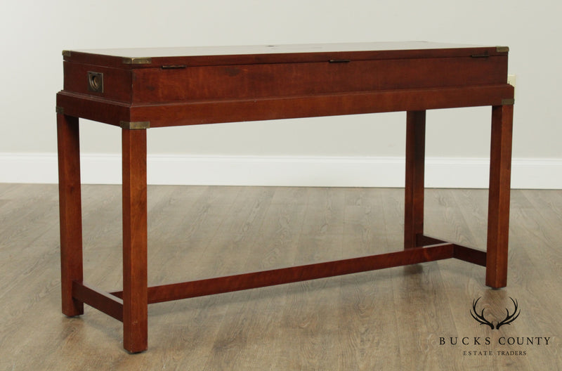 Campaign Style Quality Chest on Stand Console Table