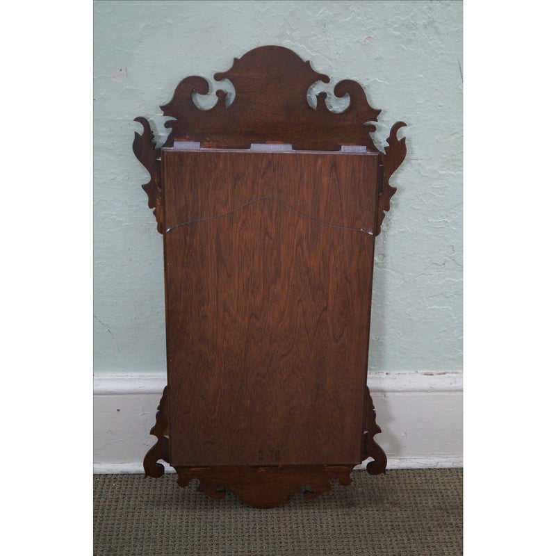 Solid Mahogany Chippendale Style Wall Mirror by Craftique