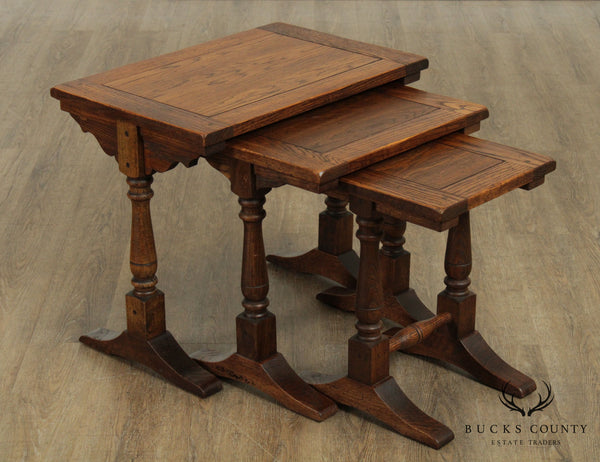 Jacobean Style Quality Vintage Nesting Tables