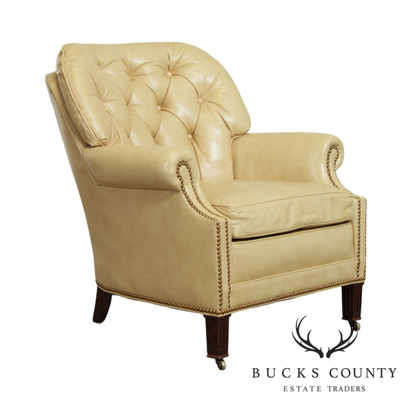 Hancock & Moore Vintage Tufted Leather Club Chair