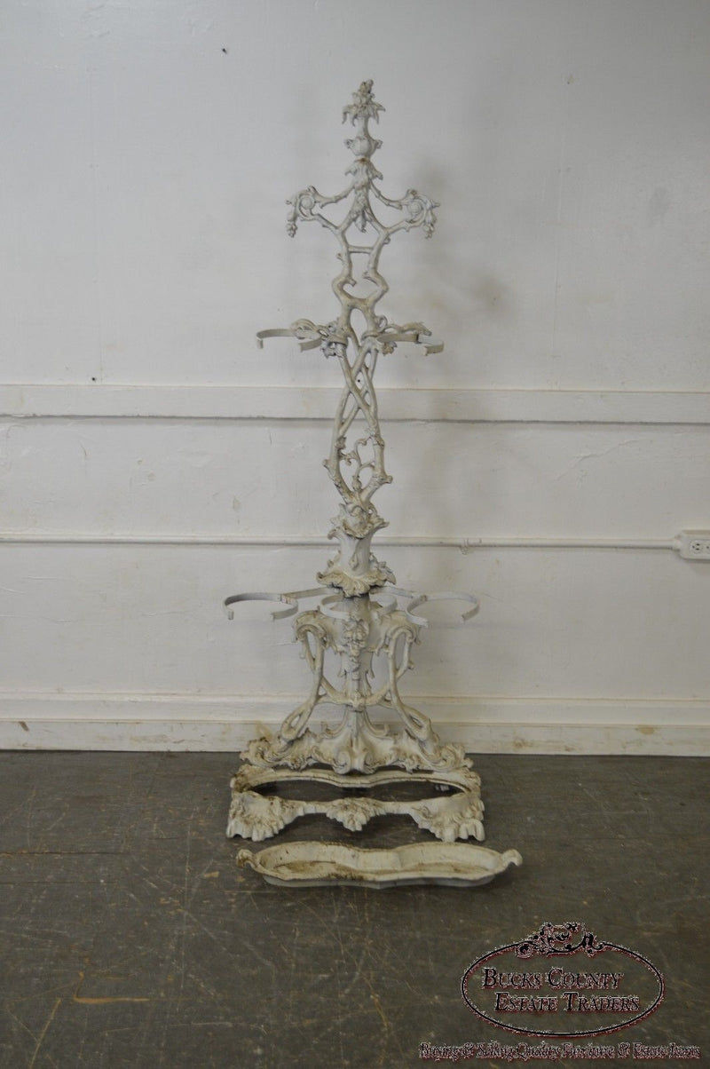 Antique 19th Century Victorian Cast Iron Hall Stand