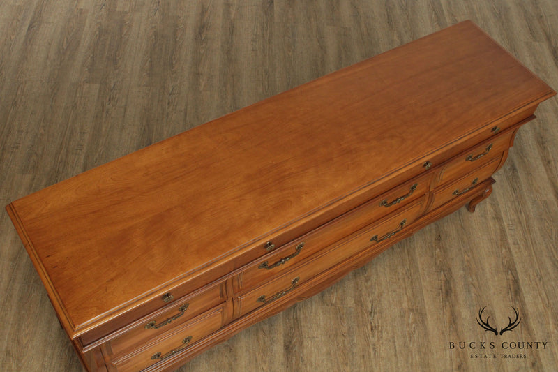 United Furniture Co. French Country Style Vintage Cherry Bombe Long Dresser