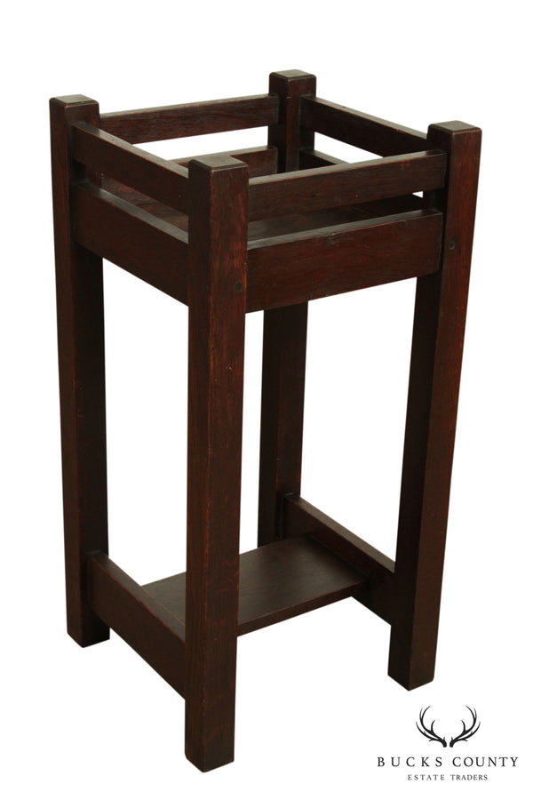 L & JG Stickley Antique Mission Arts & Crafts Oak Plant Stand