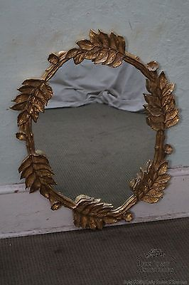 Carvers Guild Leaf & Flower Gilt Frame Mirror