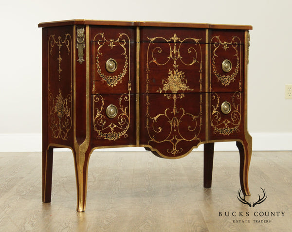 John Widdicomb French Louis XVI Hand Painted Commode Chest