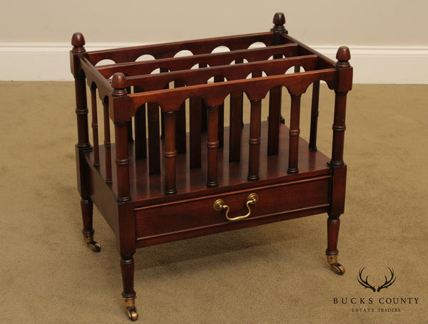 Wellington Hall Solid Mahogany Regency Style Canterbury Magazine Rack