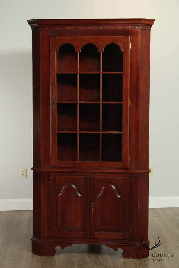 Colonial Furniture Co. Solid Cherry Chippendale Style 'Northumberland' Corner Cabinet