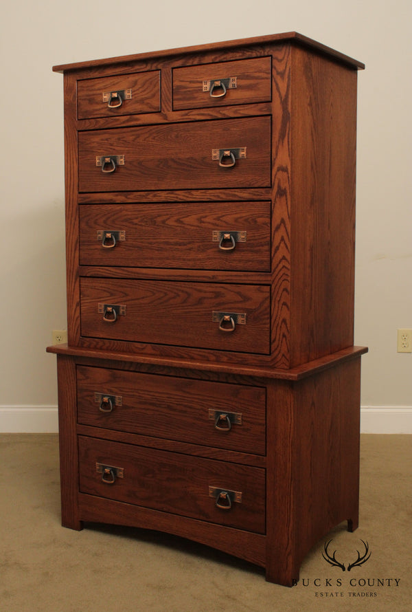 Mission Oak Style Oak Tall Chest by Country Classic Collection