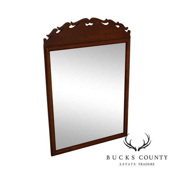Stickley Vintage Cherry Wood Frame Traditional Mirror