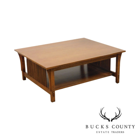 Stickley Mission Collection Oak Spindled Coffee Coctail Table