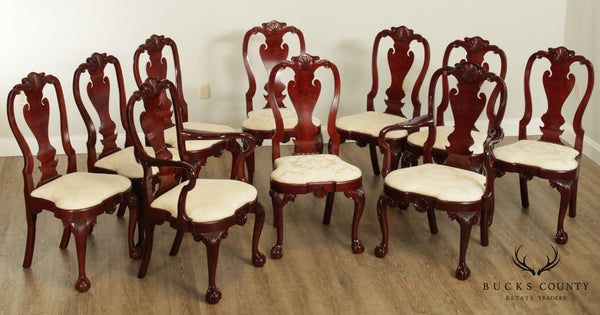 Kindel Winterthur Collection Set 10 Ball and Claw Dining Chairs