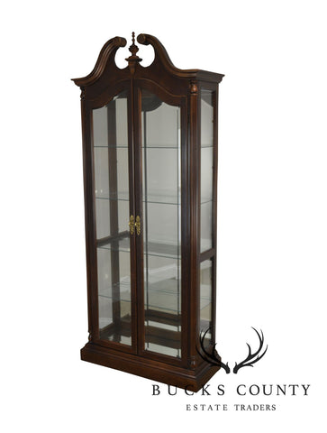 Pulaski 18th Century Collection Cherry Lighted Curio Display Cabinet
