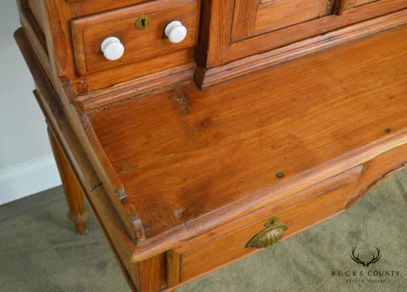 Antique 19th Century Anglo Indian Solid Teak Desk