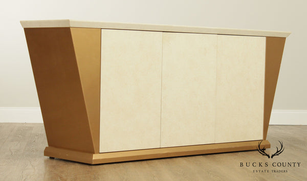 Postmodern Quality Lacquered 3 Door Credenza Sideboard