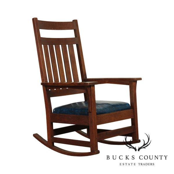 Gustav Stickley Antique Mission Oak Rocker