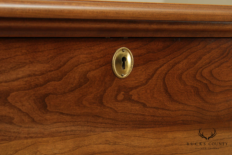Stickley Chippendale Style Cherry Blanket Chest