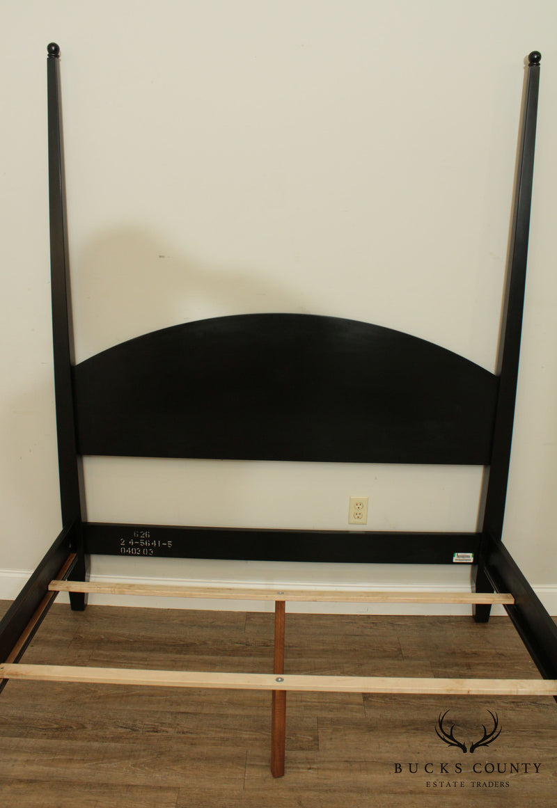 Ethan Allen American Impressions Black Painted Queen Poster Bed