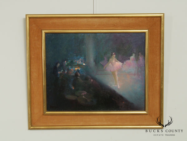 William Harnden Oil Painting on Board of Dancing Ballerina