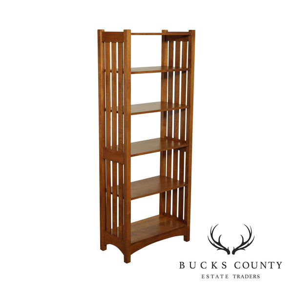 Stickley Mission Collection Oak Open Bookcase , Etagere