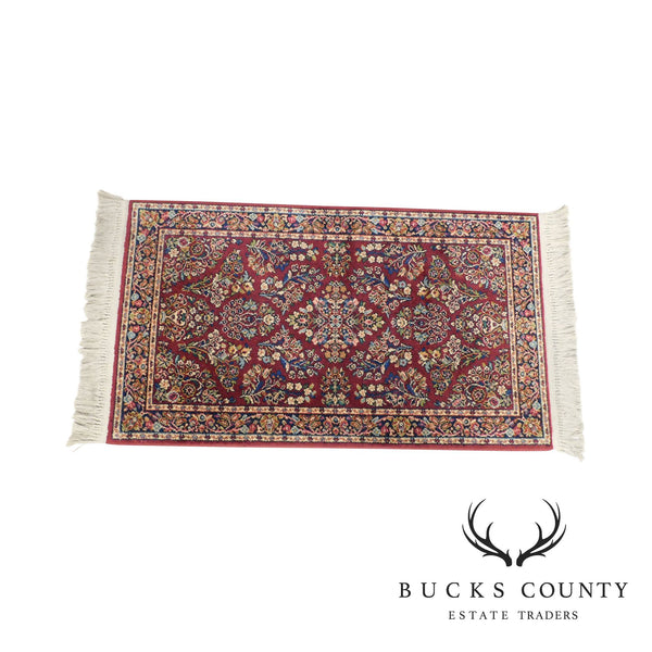 Karastan Red Sarouk 2.10 X 5 Throw Rug # 785