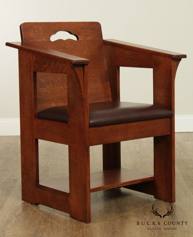 "Stickley Mission Collection Oak ""Limbert Cafe Chair"" B – Bucks"