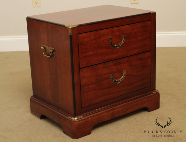National Mt. Airy Vintage Campaign Style 2 Drawer Nightstand Chest